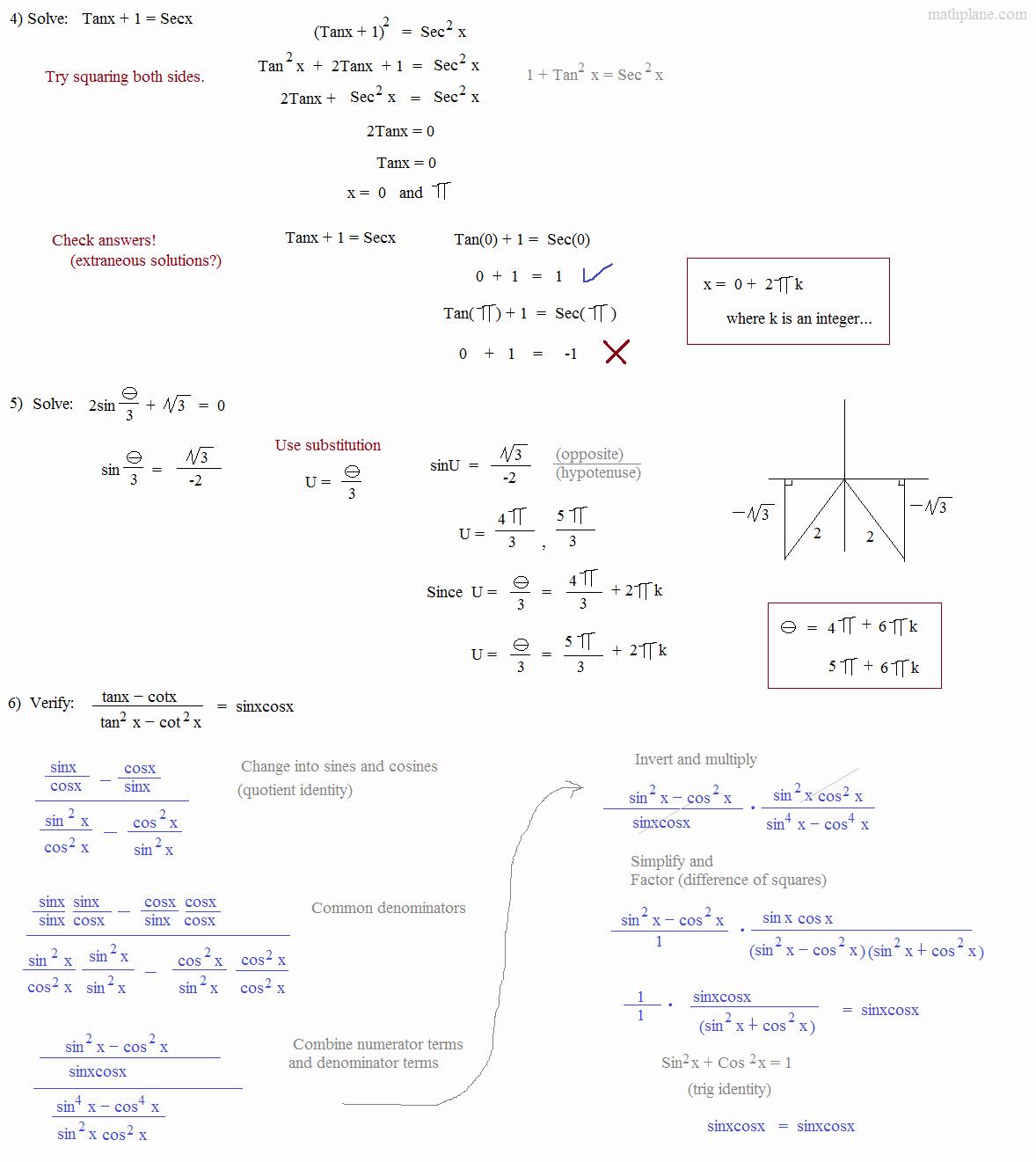 Double Angle Identities Worksheet Fresh Math Plane Trig Identities I Introduction