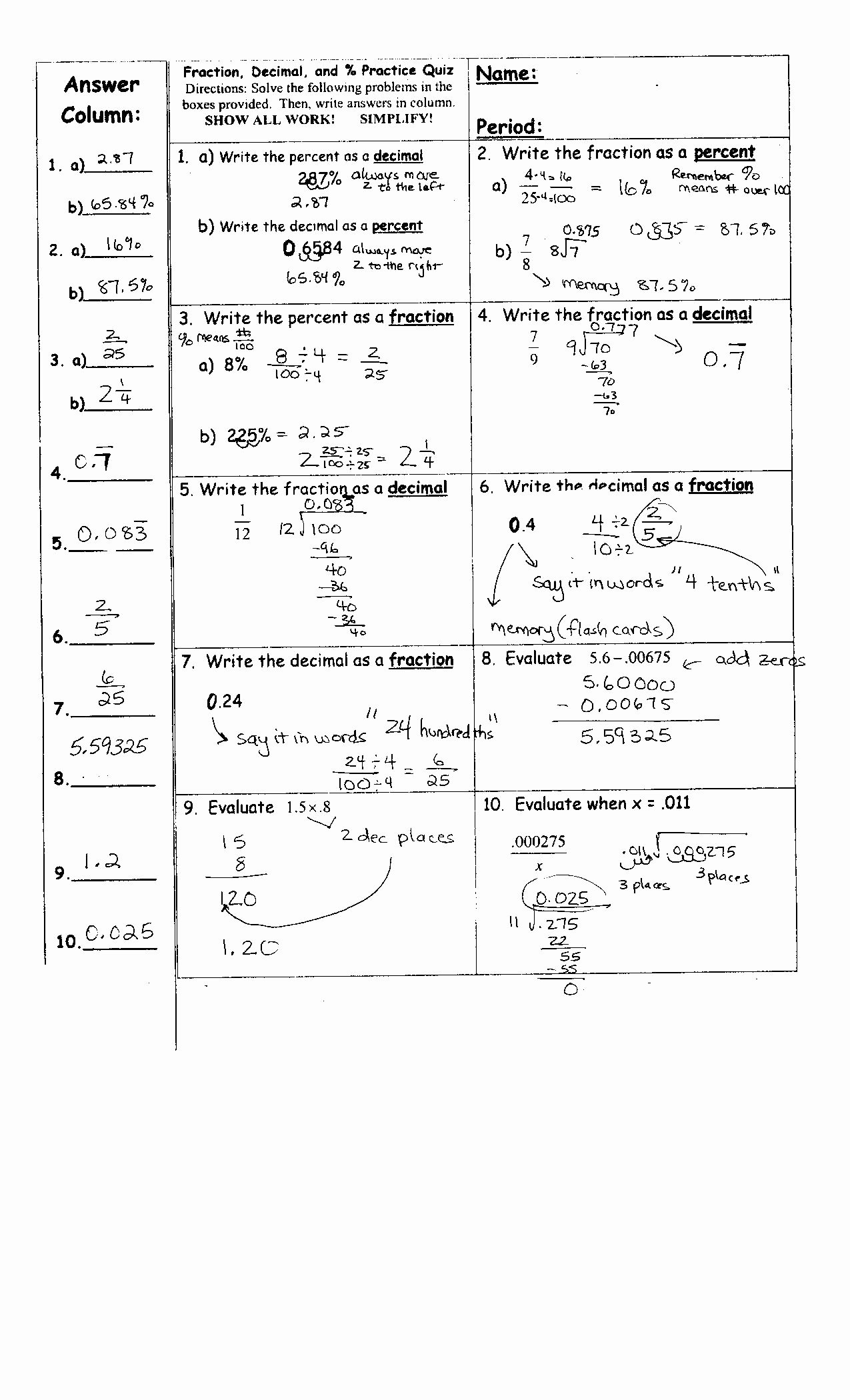 Double Cross Math Worksheet Answers Beautiful Math Worksheets Pre Alge with Pizzazz Double Cross Answer