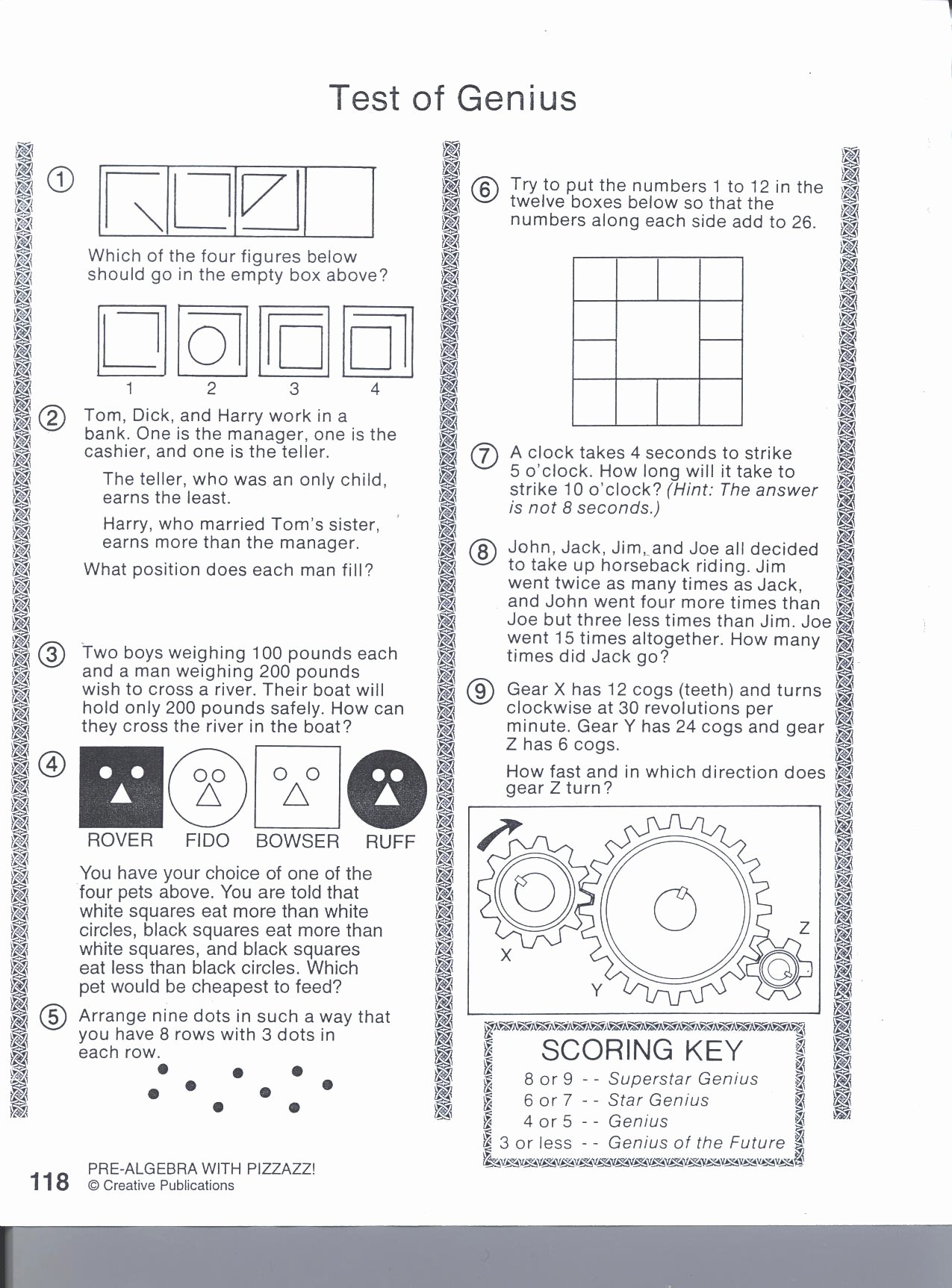 Double Cross Math Worksheet Answers Fresh Answers to Pre Algebra with Pizzazz Ourclipart