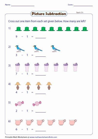Double Cross Math Worksheet Answers Lovely Picture Subtraction Facts Worksheets