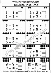 Doubles Plus One Worksheet Best Of 1000 Images About Doubles & Doubles Plus E On Pinterest
