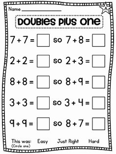 Doubles Plus One Worksheet Unique 19 Best Of Doubles Fact Practice Worksheet