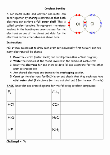 Drawing Lewis Structures Worksheet Unique Covalent Bonding Worksheet by Kates1987 Teaching