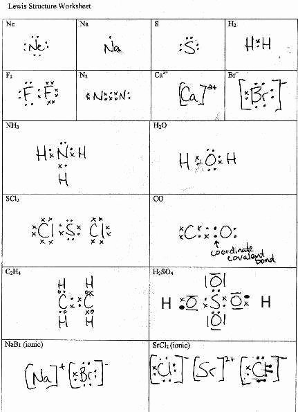 Drawing Lewis Structures Worksheet Unique Lewis Structures Worksheet