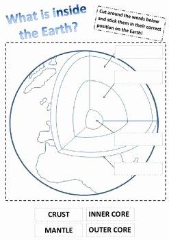 Earth Layers Worksheet Pdf Elegant Inside the Earth Earth Layers Science Worksheet