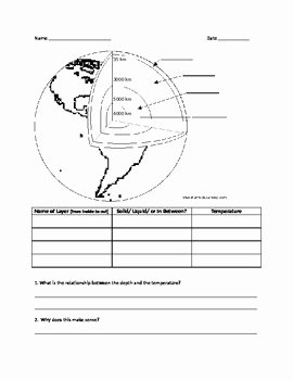 Earth Layers Worksheet Pdf Lovely Layers Of the Earth Worksheet Lesson 1 by Naomi Mcdonnell
