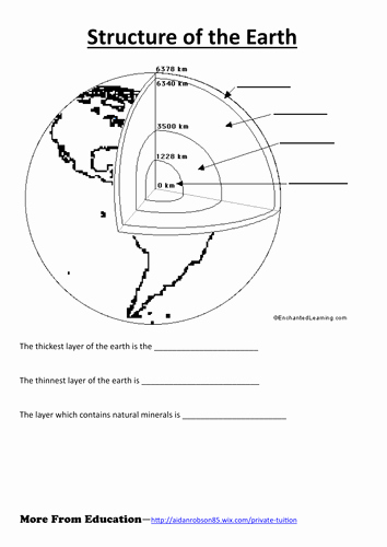 Earth Layers Worksheet Pdf Lovely Structure Of the Earth Worksheet by Jkmoss Teaching