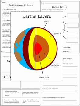 Earth Layers Worksheet Pdf Unique Earth S Layers Diagram & Worksheets by Dressed In Sheets