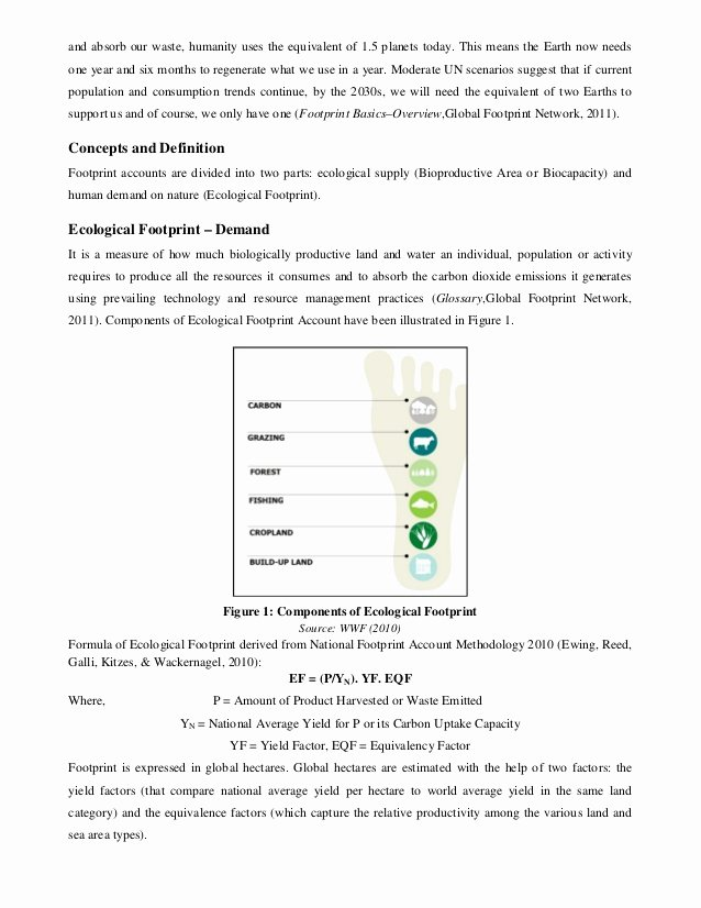 Ecological Footprint Calculator Worksheet Beautiful How to Calculate Ecological Footprint Equation Tessshebaylo