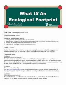 Ecological Footprint Calculator Worksheet Best Of What is An Ecological Footprint 4th 8th Grade Lesson