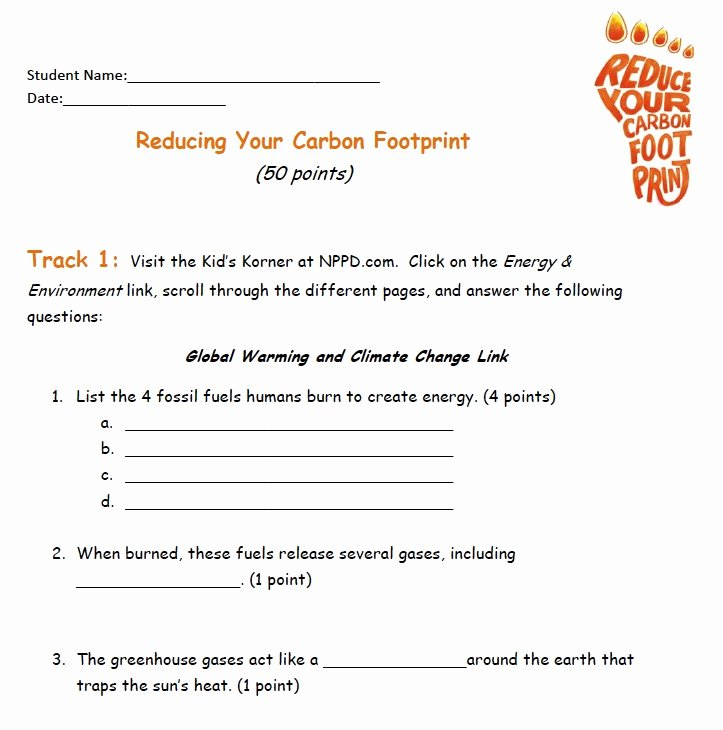 Ecological Footprint Calculator Worksheet Elegant Carbon Footprint Calculator for Kids Worksheet – Kids Matttroy