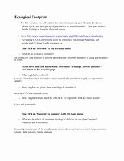 Ecological Footprint Calculator Worksheet Lovely Module 15 Ecological Footprint Quiz Module 15 Ecological