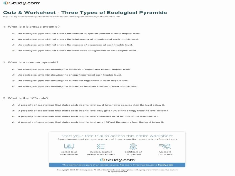 Ecological Pyramids Worksheet Answers Inspirational Ecological Pyramids Worksheet Answers Free Printable