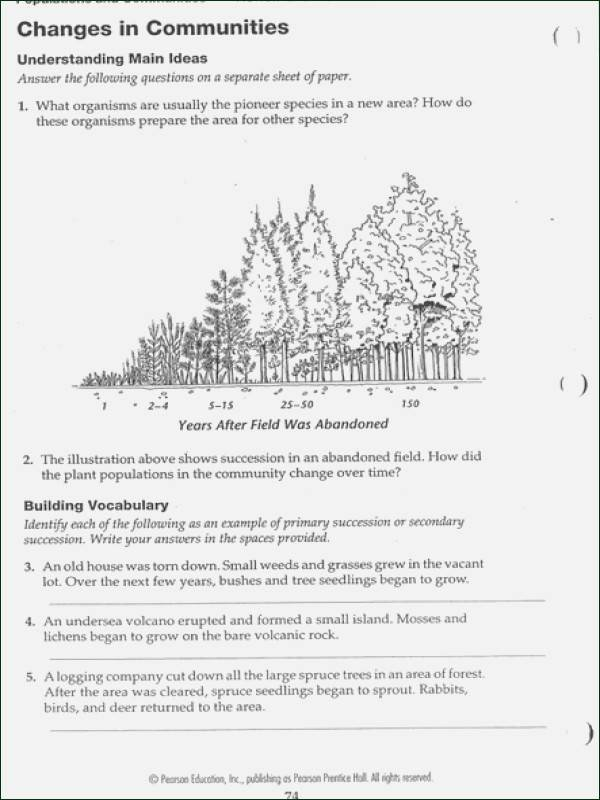 Ecological Succession Worksheet Answer Key Best Of Amoeba Sisters Ecological Relationship Answer Worksheet