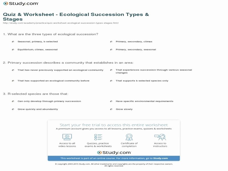 Ecological Succession Worksheet Answer Key Inspirational 1 620a E659b7dd25a717a7432ef Free