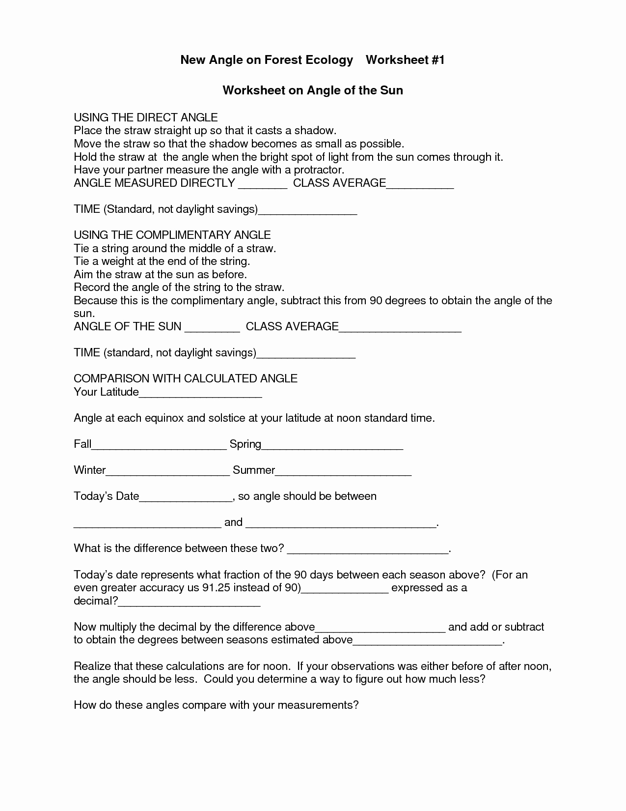 Ecological Succession Worksheet High School New 15 Best Of Ecology Worksheets for High School
