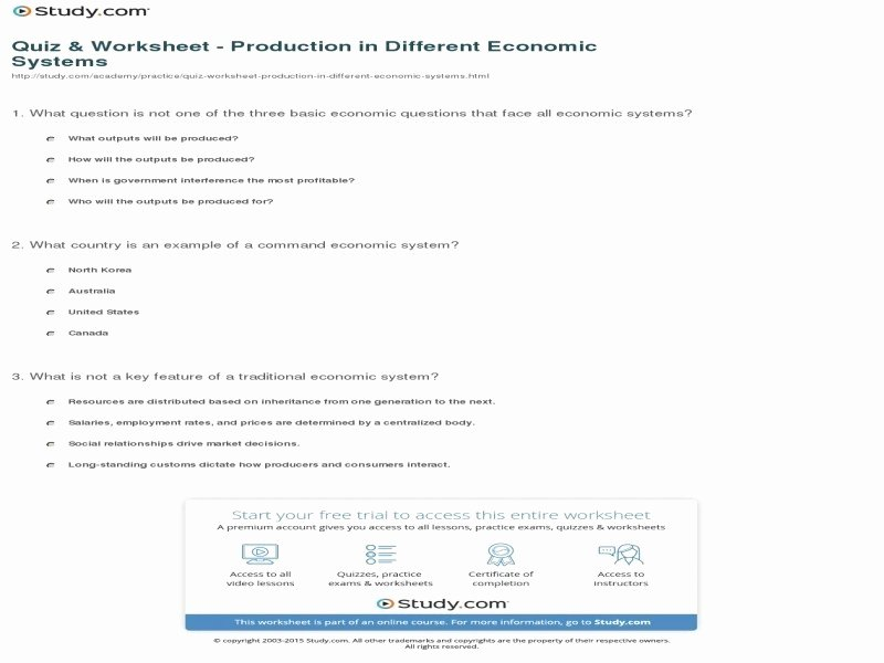 Economic Systems Worksheet Pdf Inspirational Opportunity Cost Worksheet Free Printable Worksheets