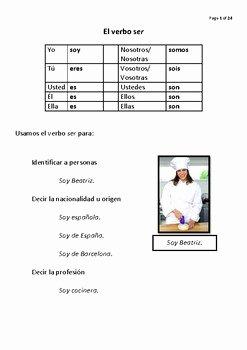 El Verbo Ser Worksheet Answers Best Of El Verbo Ser by Loving Learning Languages