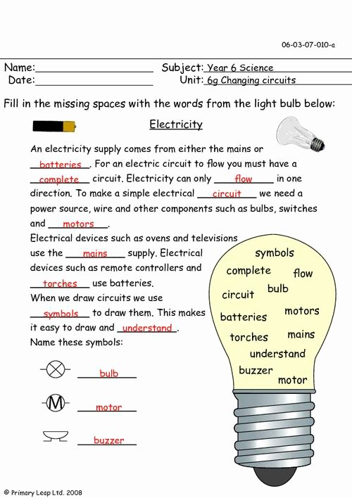 Electrical Power Worksheet Answers Beautiful Electricity Questions