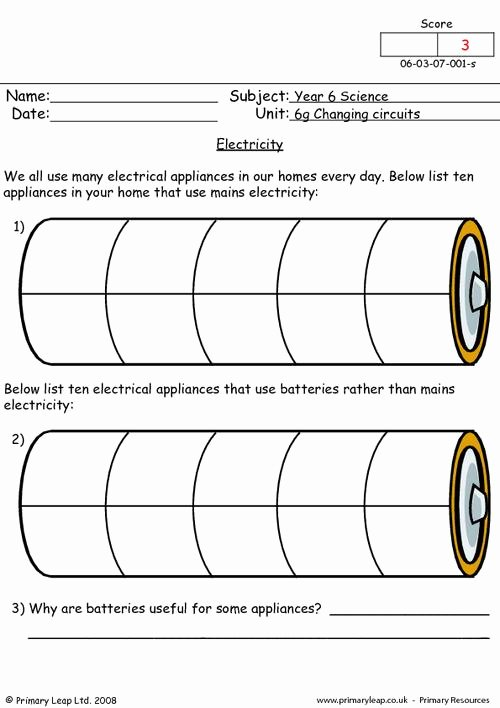 Electrical Power Worksheet Answers Elegant Electricity