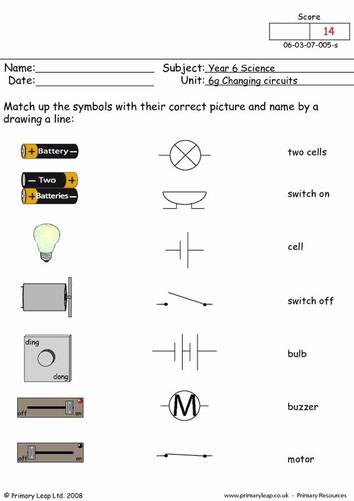 Electrical Power Worksheet Answers Luxury Electrical Symbols 1