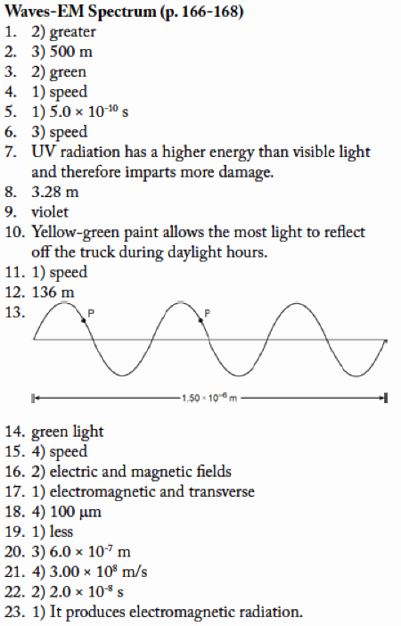 Electromagnetic Waves Worksheet Answers Elegant Waves and Electromagnetic Spectrum Worksheet Answers