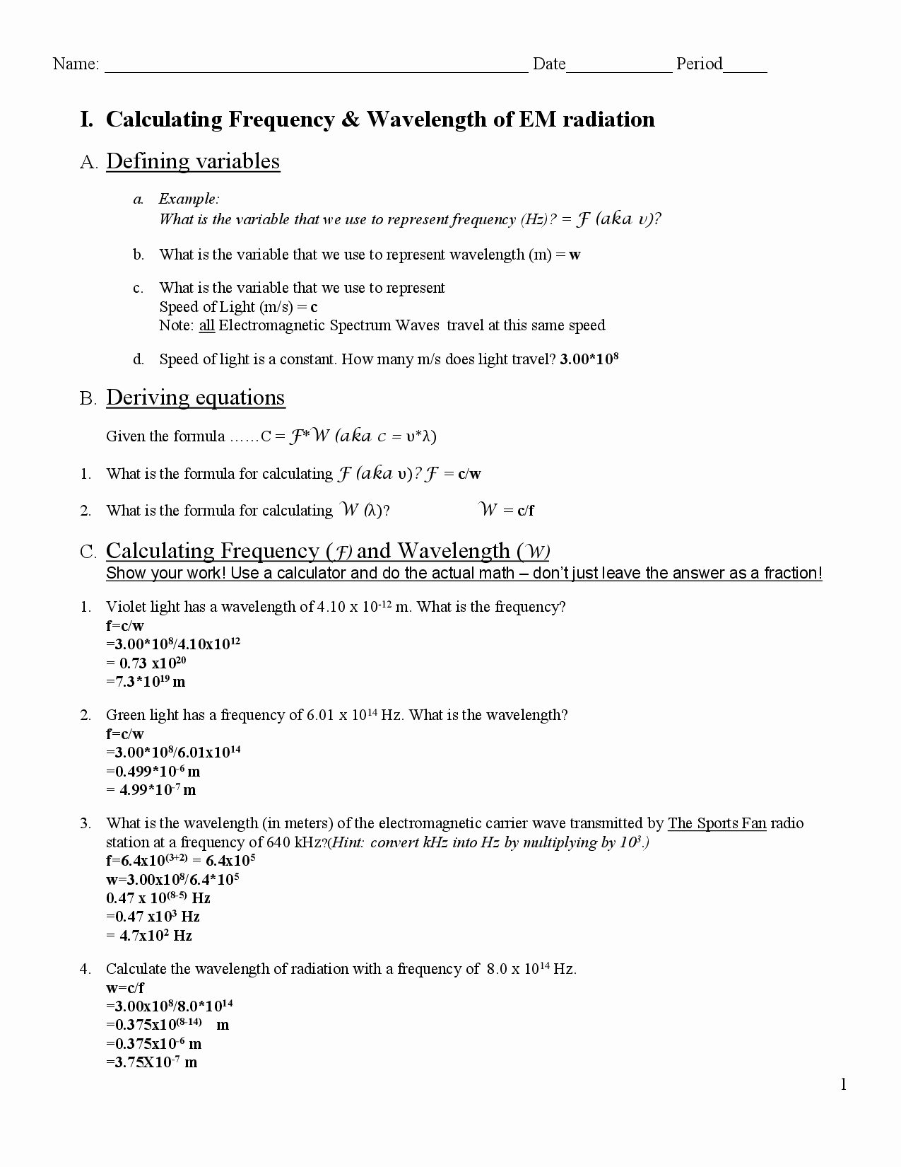 Electromagnetic Waves Worksheet Answers Unique 16 Best Of Wave Worksheet 1 Answer Key Labeling