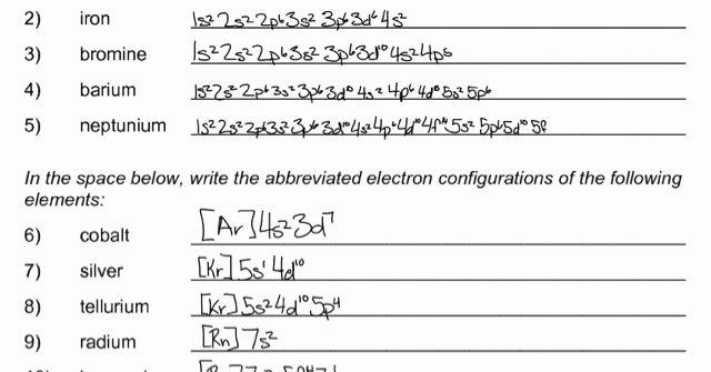 Electron Configuration Practice Worksheet Elegant Bryn D Agostino Electron Configuration Practice Worksheet