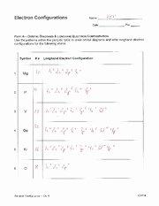 Electron Configuration Practice Worksheet Luxury Electron Configuration Practice Key Name Date Electron