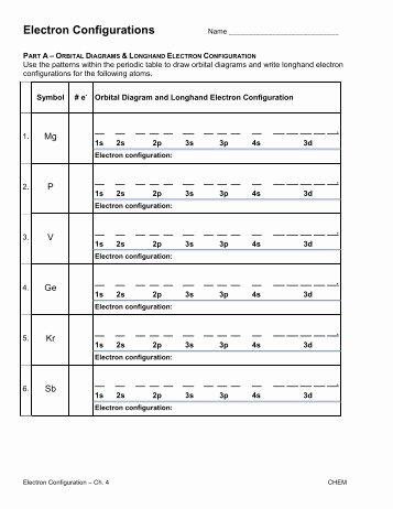 Electron Configuration Practice Worksheet Luxury Electron Configuration Practice Worksheet