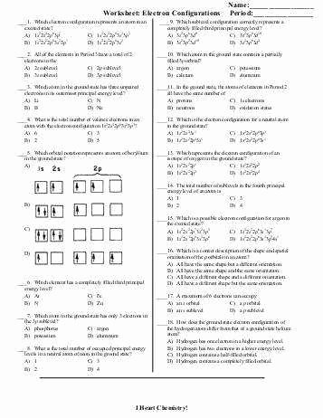 Electron Configuration Worksheet Answer Key Lovely Electron Configuration Worksheet Answer Key
