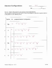 Electron Configuration Worksheet Answers Unique Electron Configuration Practice Key Name Date Electron