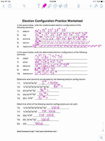 Electron Configurations Worksheet Answer Key Lovely Electron Configurations Worksheet