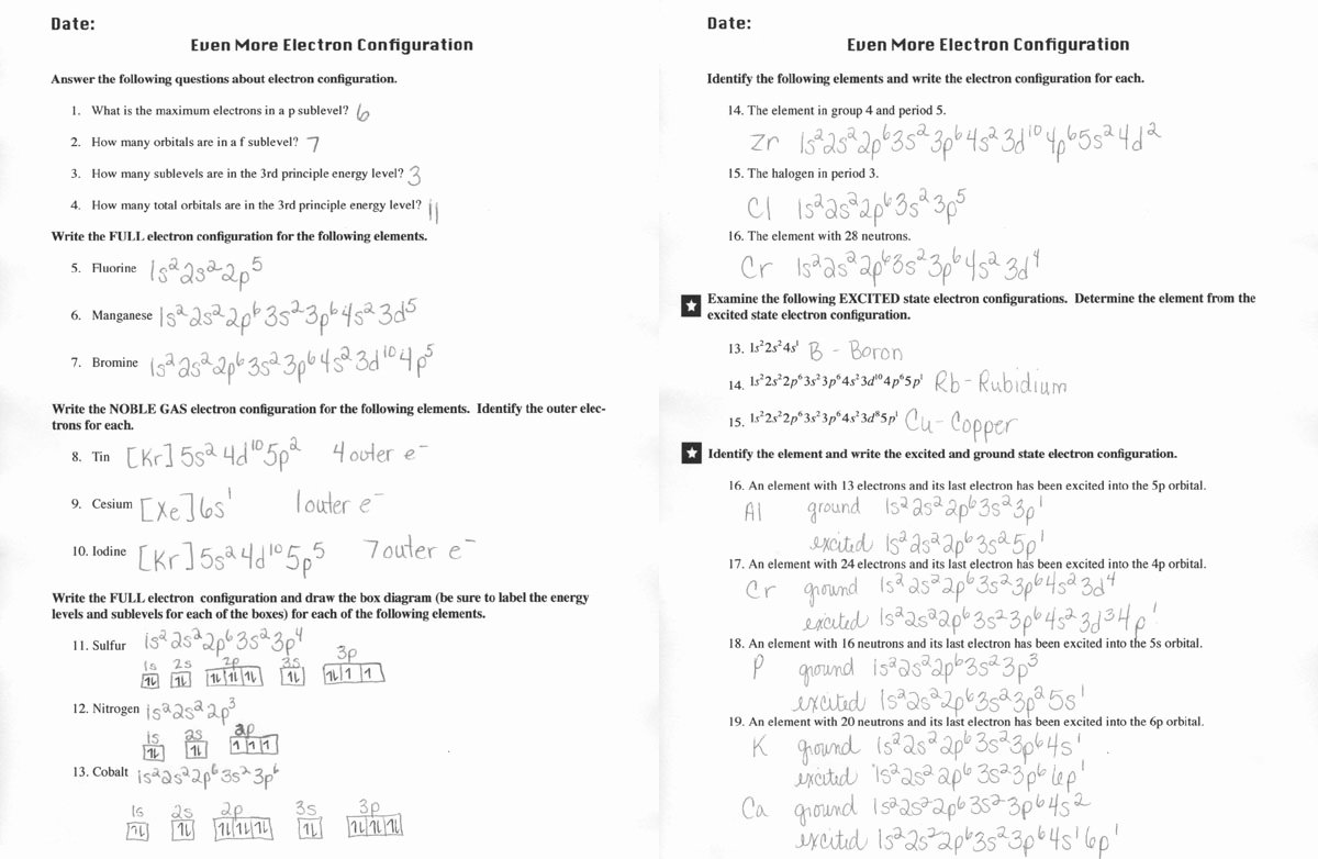 Electron Configurations Worksheet Answer Key Unique 19 Best Of History Worksheets with Answer Keys