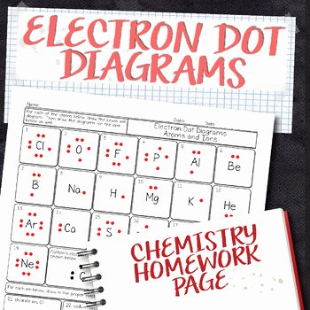 Electron Dot Diagram Worksheet Beautiful Free Electron Dot Diagram Chemistry Homework Worksheet by