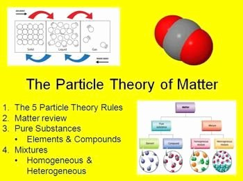 Elements Compounds & Mixtures Worksheet Beautiful Particle theory and Classification Of Matter Powerpoint