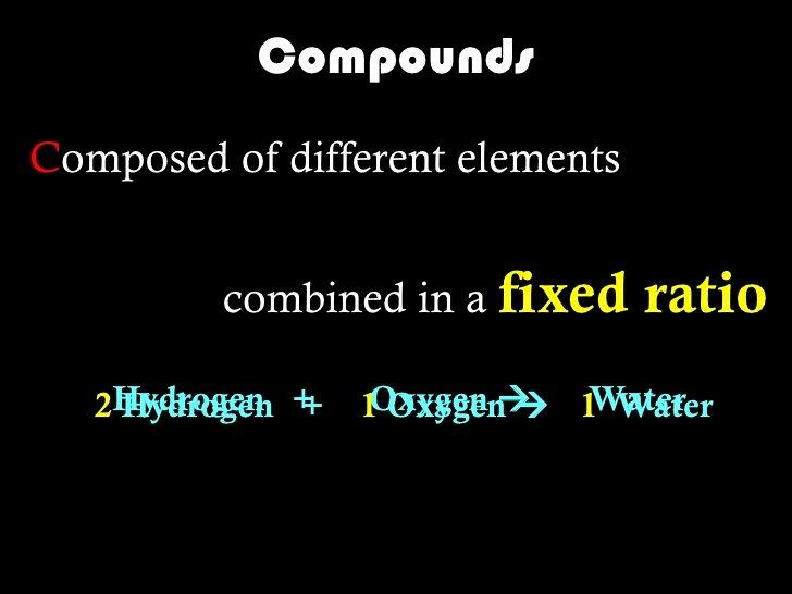 Elements Compounds & Mixtures Worksheet Best Of Elements Pounds & Mixtures Slides