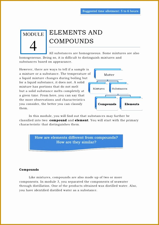 elements and pounds worksheet answers