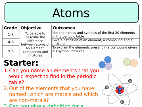 Elements Compounds & Mixtures Worksheet Inspirational Swift Science S Shop Teaching Resources Tes