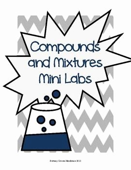 Elements Compounds & Mixtures Worksheet Luxury 48 Best Images About Elements and Pounds On Pinterest
