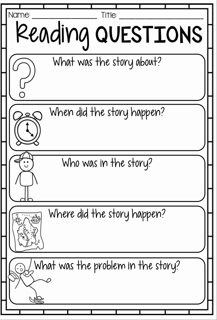 Elements Of A Story Worksheet Inspirational Reading Response Worksheets Graphic organizers and