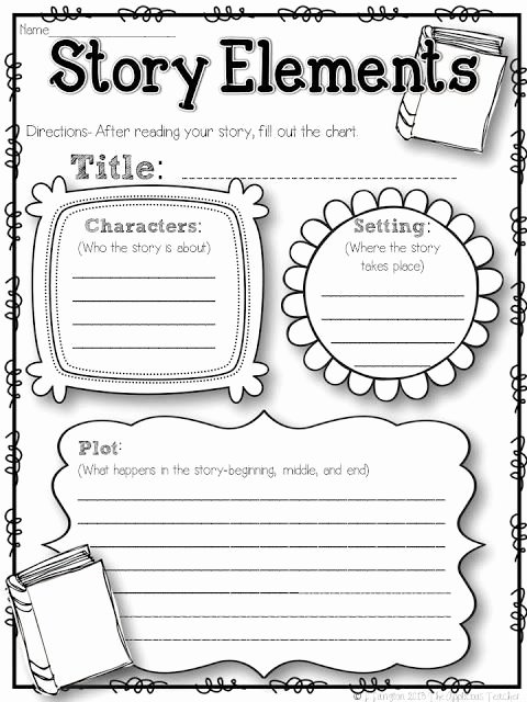 Elements Of A Story Worksheet Inspirational the Applicious Teacher Five for Friday the 2nd Week In