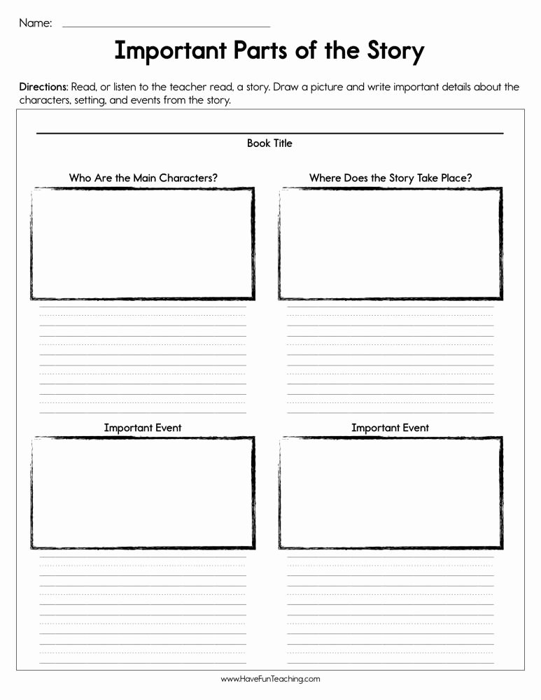 Elements Of A Story Worksheet New Resources Reading Story Elements