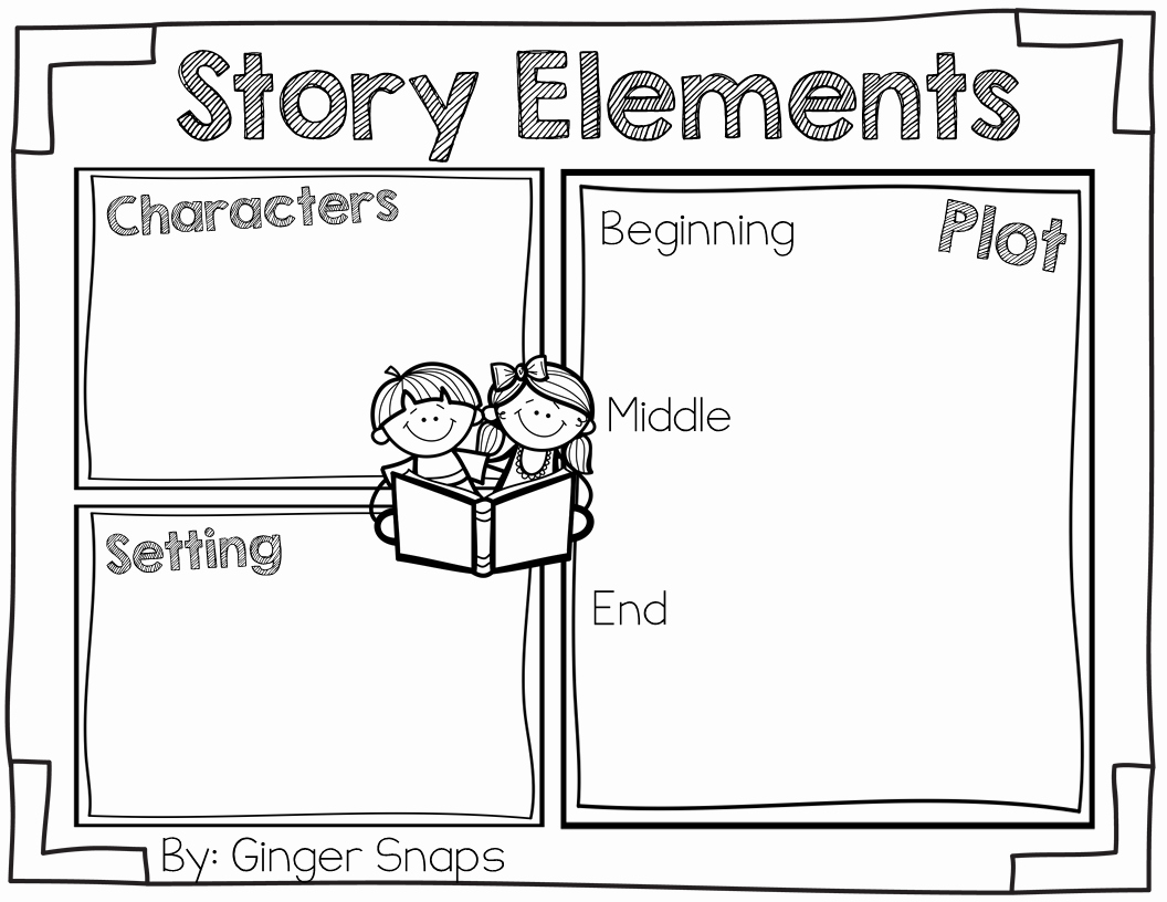 Elements Of A Story Worksheet Unique Ginger Snaps Story Elements Freebie