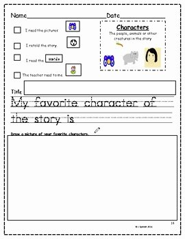 Elements Of A Story Worksheet Unique Story Element Posters and Worksheets for Kindergarten