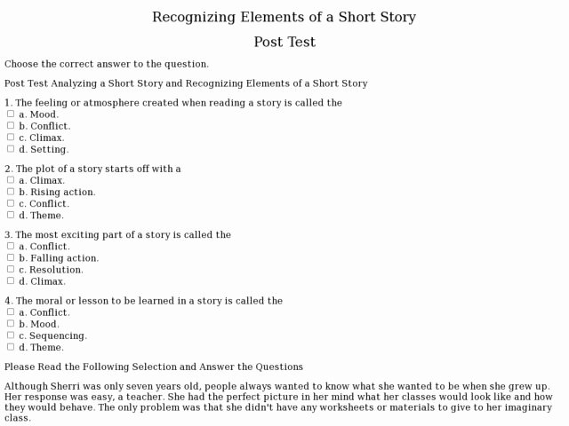 Elements Of A Story Worksheet Unique Writing Your Perfect Mon Application Main Essay Short