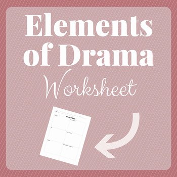 Elements Of Drama Worksheet Awesome Elements Of Drama Worksheet by Hint Of Jam Teacher