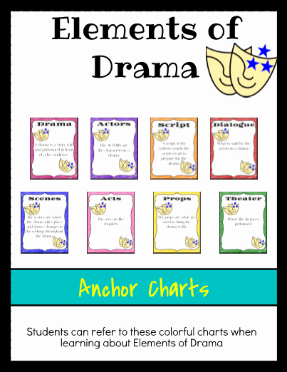 Elements Of Drama Worksheet Lovely Elements Of Drama Anchor Charts