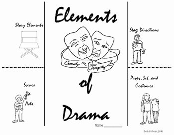 Elements Of Drama Worksheet Unique Elements Of Drama Foldable by Beth Stiltner