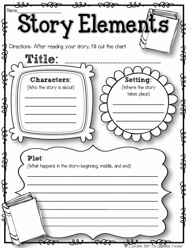 Elements Of Fiction Worksheet Awesome Pinterest • the World's Catalog Of Ideas